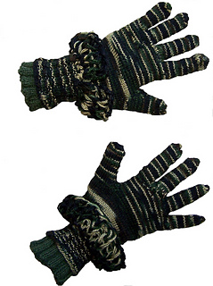Camouflage Gloves - Knitting Pattern