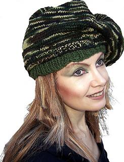 Camouflage Beret - Knitting Pattern