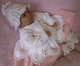KNITTING PATTERN **PICCOLO** BABY REBORN MATINEE SET.