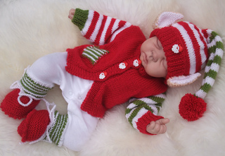 Christmas Knitting Patterns For Babies.Christmas Babies Delightful Outfits In 3 Sizes To Knit For Christmas Pattern By Karen Ashton Mills