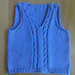 Top Down Baby Vest with Cables pattern