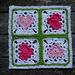 Vier Herzchen Granny Square pattern
