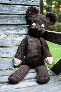 Oso Teddy Mr. Bean amigurumi. Patrón de Blue Rabbit Crochet ...   320x213