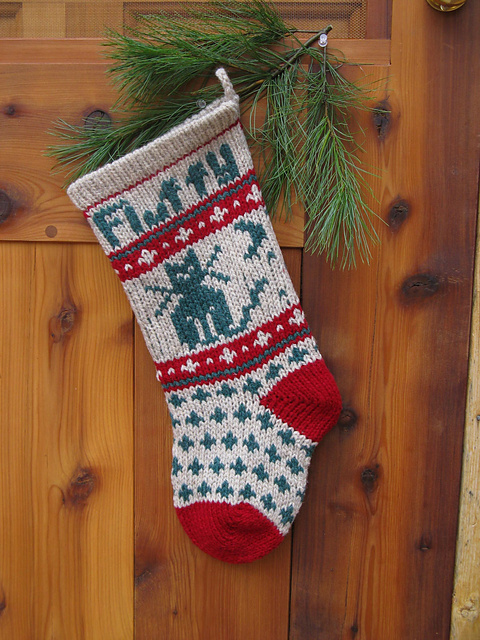 Cat Christmas Stockings.Pet Cat Christmas Stocking Pattern By Annie S Woolens