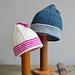 Striped Brim Baby Hat pattern