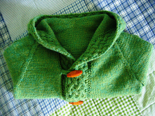 A cardigan for Merry - folded up
