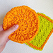 Easy Round Dish Scrubby pattern