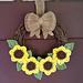 Sunflower Wreath pattern