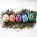 Ribbed Easter Eggs pattern