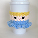 Crochet Cinderella Coffee Cup Cozy pattern