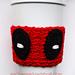 Deadpool Coffee Cup Cozy pattern