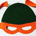 Ninja Turtle Child's Beanie with Mask pattern