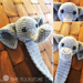 Webster the Elephant Bookmark pattern