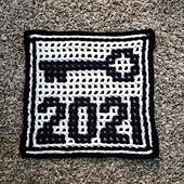 Interlocking, crocheted by me