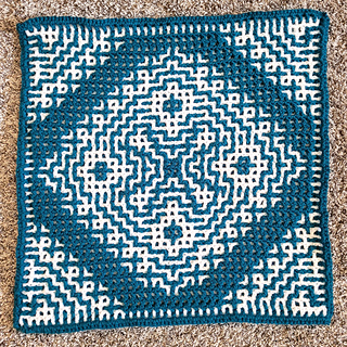 The wrong side with interlocking crochet makes a pretty design too. Mosaic will just show stripes.