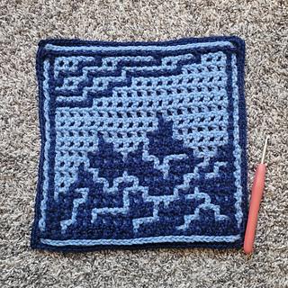 Interlocking crochet, by Ashlee Brotzell