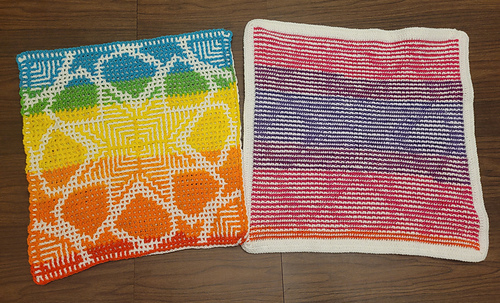 Wrong side in interlocking and mosaic crochet