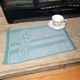 Mosaic placemat, envelope border on two ends only.