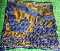 Crocheted by Miloslava, overlay mosaic technique
