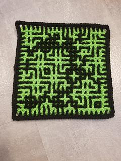 Wrong side, Interlocking Crochet