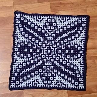 Wrong side of Interlocking Crochet, by Nessa Miller
