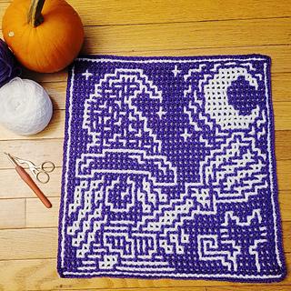 Interlocking crochet sample