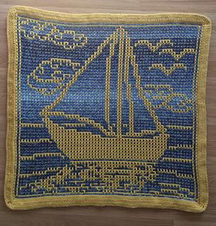 Mosaic Sample crocheted by Angela Kermack