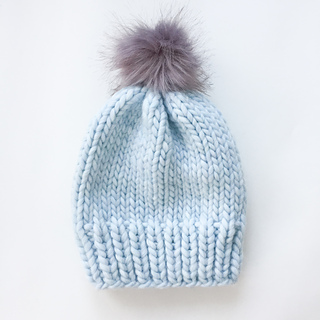 Simply Chunky Wool Knit Hat Pattern