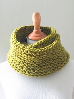 Garter Stitch Knit Cowl Scarf
