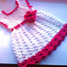 Pink baby dress pattern