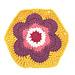 Vintage Flower Hexagon Motif pattern