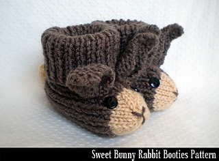 Ravelry: Sweet Bunny Rabbit Booties pattern by Aunt Janet ...