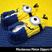 Mischievous Minion Slippers for Kids pattern