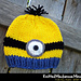 Knitted Mischievous Minion Hat pattern