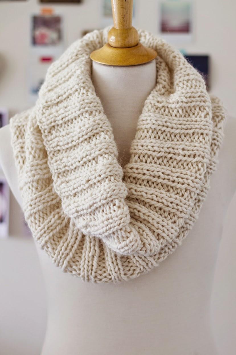 2x2 rib knit cowl using chunky yarn in 100% alpaca yarn and a stretchy bind off in knitting