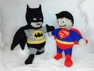 KNITTING PATTERN TO MAKE SUPERMAN KNIT YOUR OWN SUPERMAN