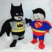 superhero, batman and superman toy pattern