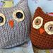 Owls Two Ways (crochet) pattern