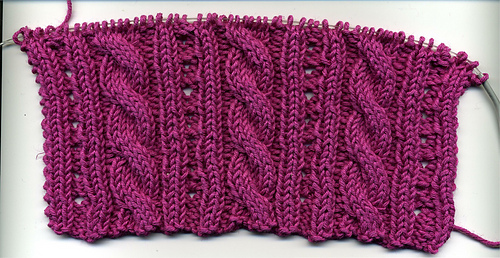 Cables and Os Swatch