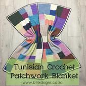 Tunisian Crochet Patchwork Blanket