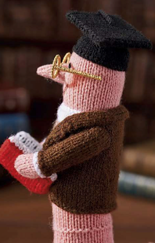 Alan Dart Knitting Pattern for Prof B Wormington Bookworm