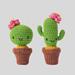 Amigurumi cacti pincushion pattern