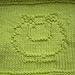 Sheep Washcloth pattern