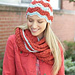 Ripple Hat and Cowl Set: Cowl pattern