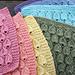 Raindrop Dishcloth pattern