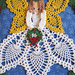 Tidings of Joy Christmas Angel Doily pattern
