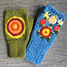 Fingerless mittens - Pulsvanter med broderier pattern