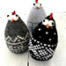 Easter chickens Norwegian style pattern