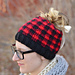 Messy Bun Plaid Hat pattern