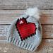 8-Bit Heart Slouchy pattern